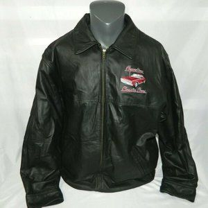 Canadian Classic Cars Mens Large Leather Jacket